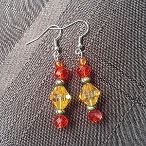 Jewelry - Orange earrings.
